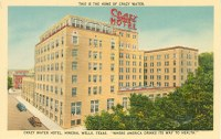 Postcard showing the Crazy Water Hotel.