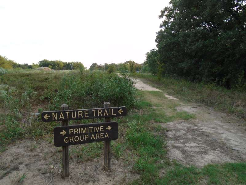 Trailhead for the Primitive Group Camping Area.
