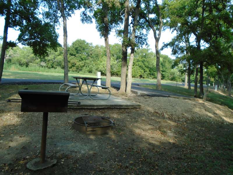 Campsite #16, with water & electricity, in the Clearfork Creek Camping Area.
