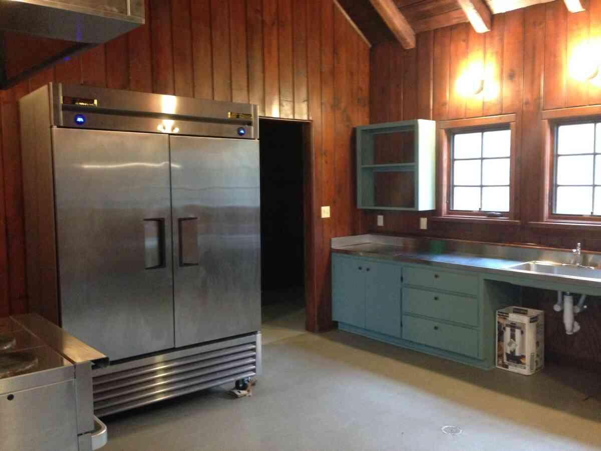 The Rec. Hall has a big kitchen.