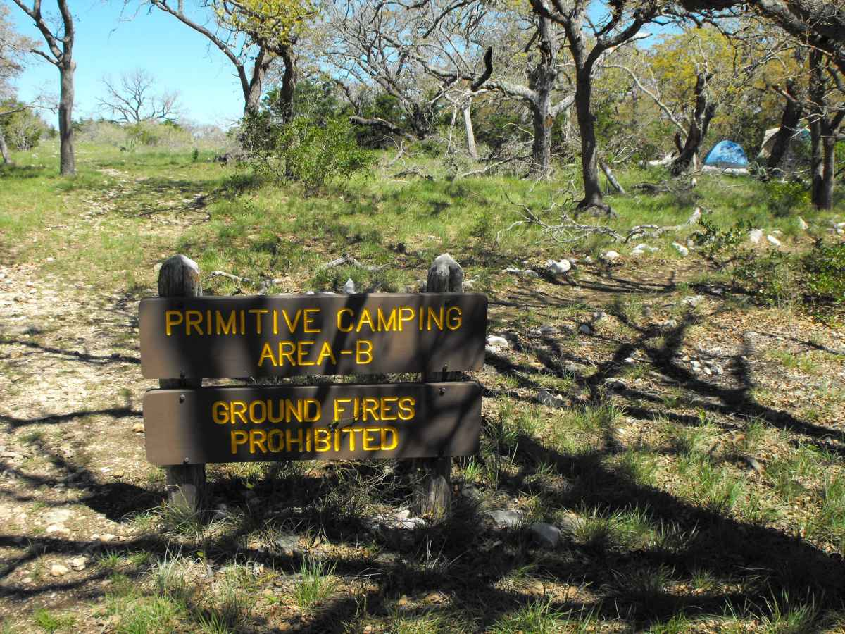 Primitive Camping Area B.