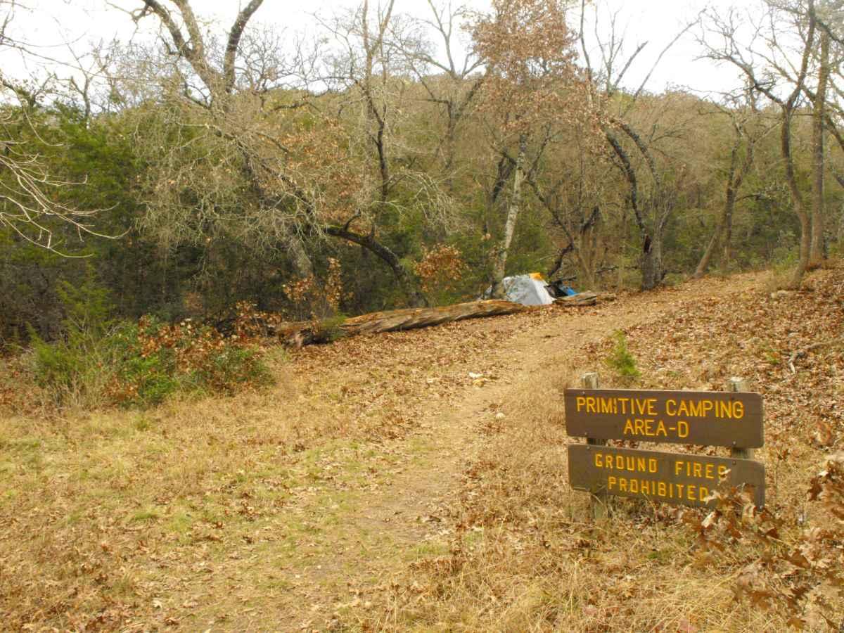Primitive Camping Area D.