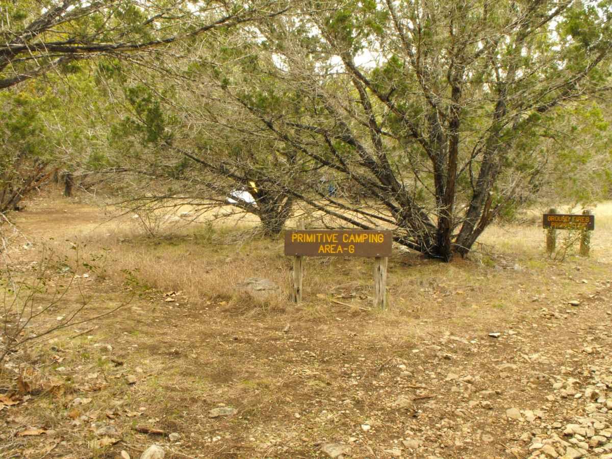 Primitive Camping Area G.