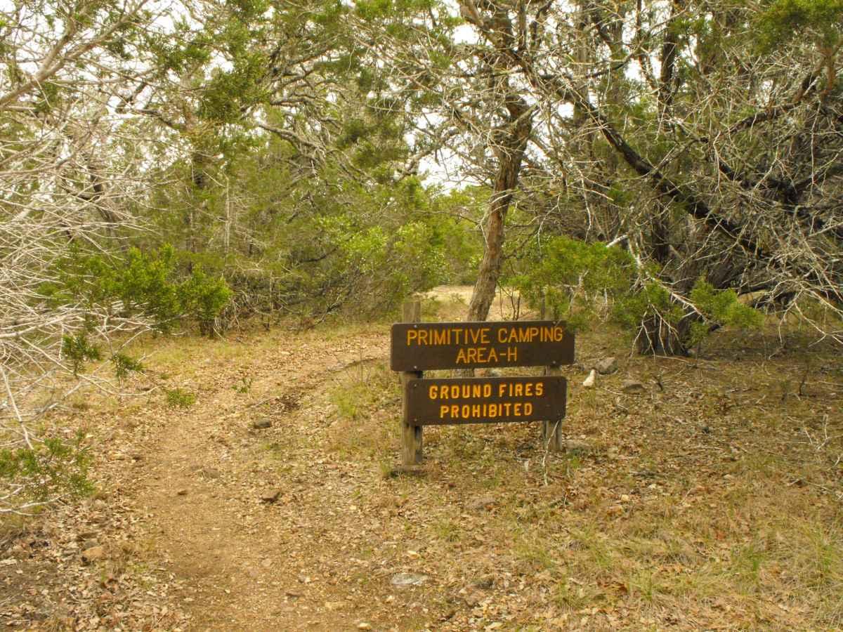 Primitive Camping Area H.