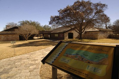 The wheelchair-accessible Visitor Center Complex at LBJ State Park