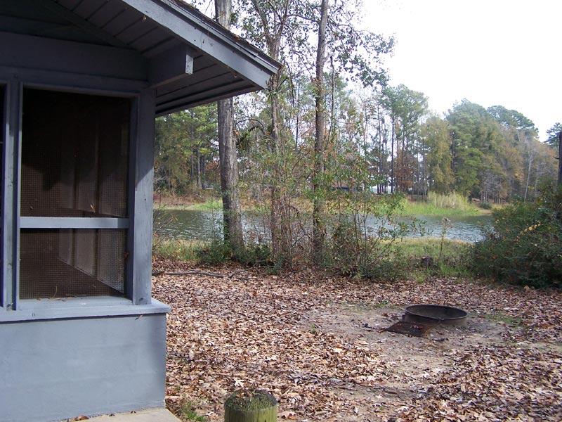 Outside Screened Shelter #13.