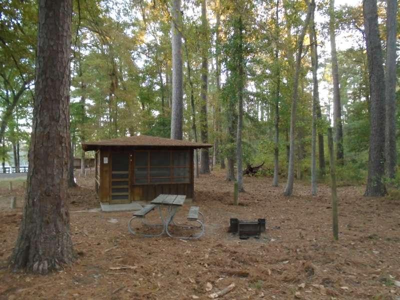 Screened Shelter #22 in the Walnut Ridge Unit. .