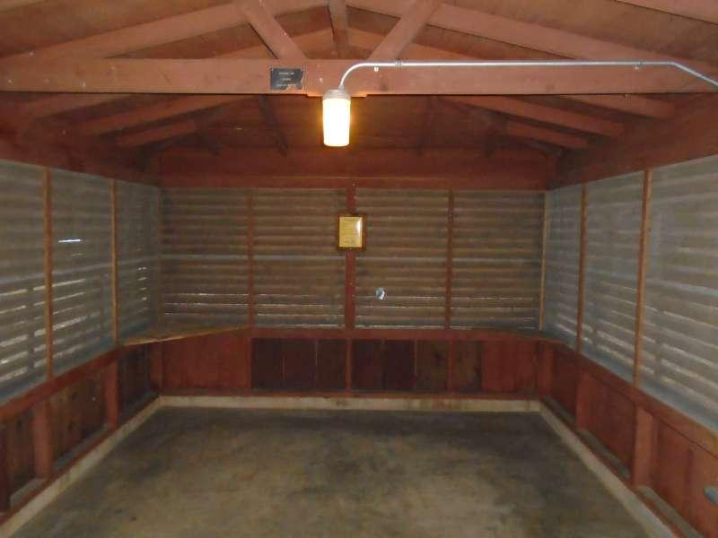 Inside Screened Shelter #22 in the Walnut Ridge Unit. .