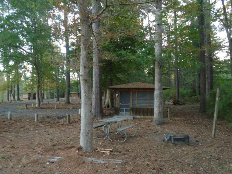 Screened Shelter #24 in the Walnut Ridge Unit.