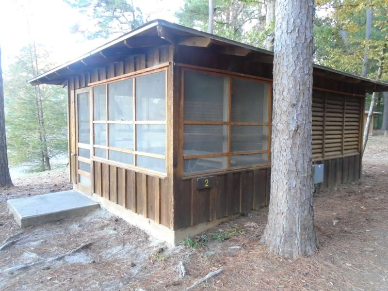 Screened Shelter #2 in the Walnut Ridge Unit.
