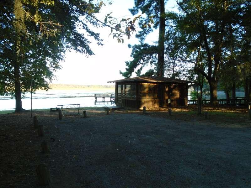 Screened Shelter #5 in the Walnut Ridge Unit.