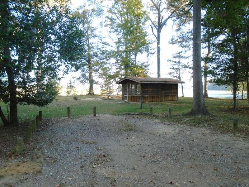 Screened Shelter #10 in the Walnut Ridge Unit.