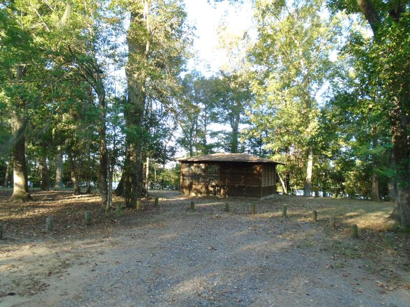 Screened Shelter #11 in the Walnut Ridge Unit.