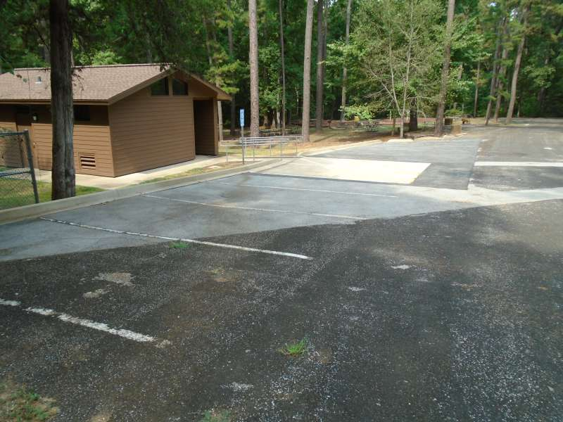 The parking area for the Pavilion.