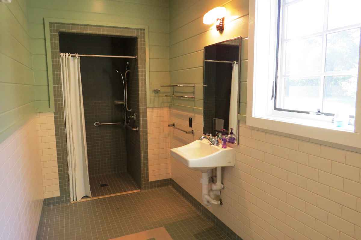 There are two bathrooms in the cabin; one is ADA accessible (designed to be usable by people in wheelchairs).