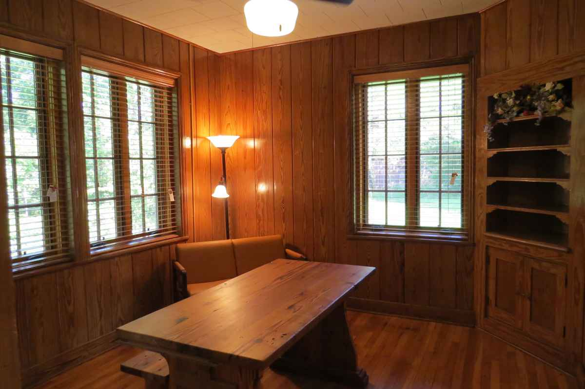 Inside the dining area of the Cabin.