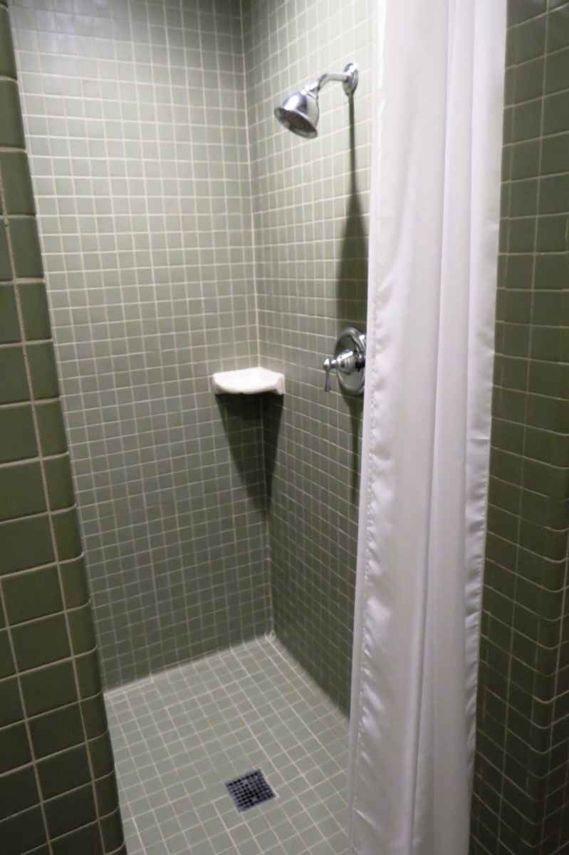 There are two bathrooms in the cabin; one is ADA accessible and one is not.