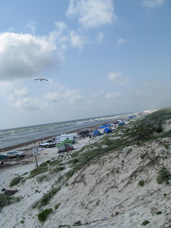 The beach camping area.