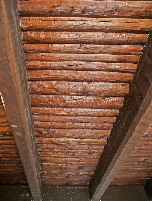 The ceiling inside the Goodnight Cabin. Photo by John Chandler.