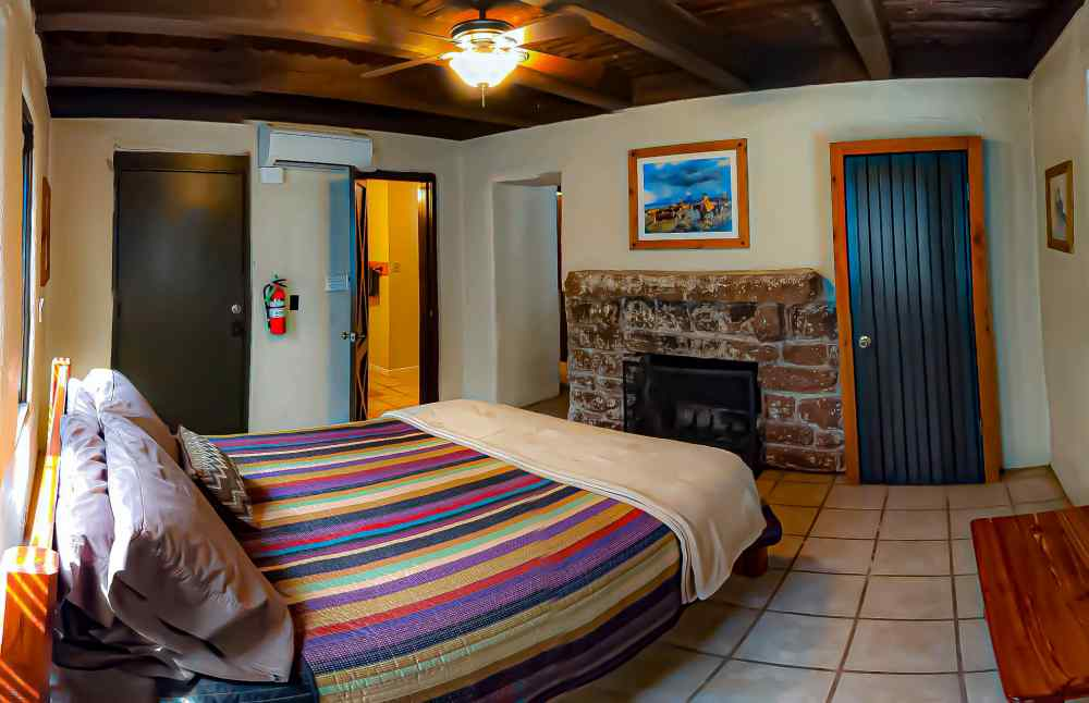 The main bedroom of the cabin. Photo by John Chandler.