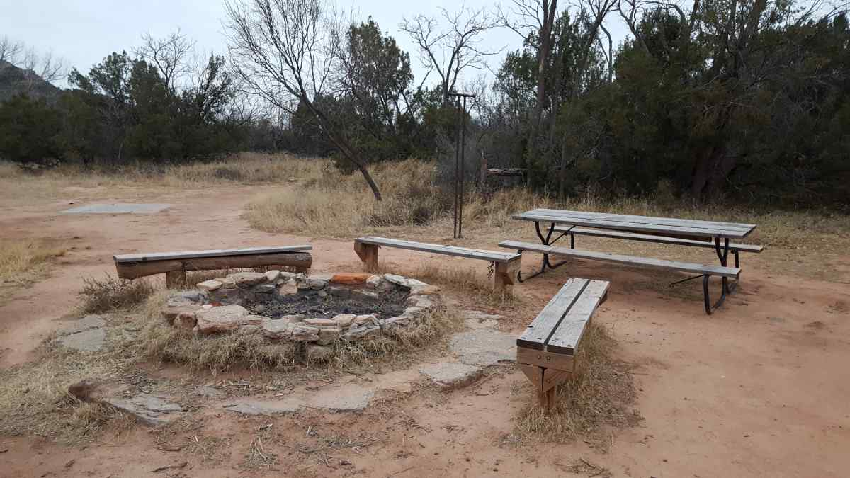 Palo duro canyon state park youth group camping area for Cabins near palo duro canyon state park