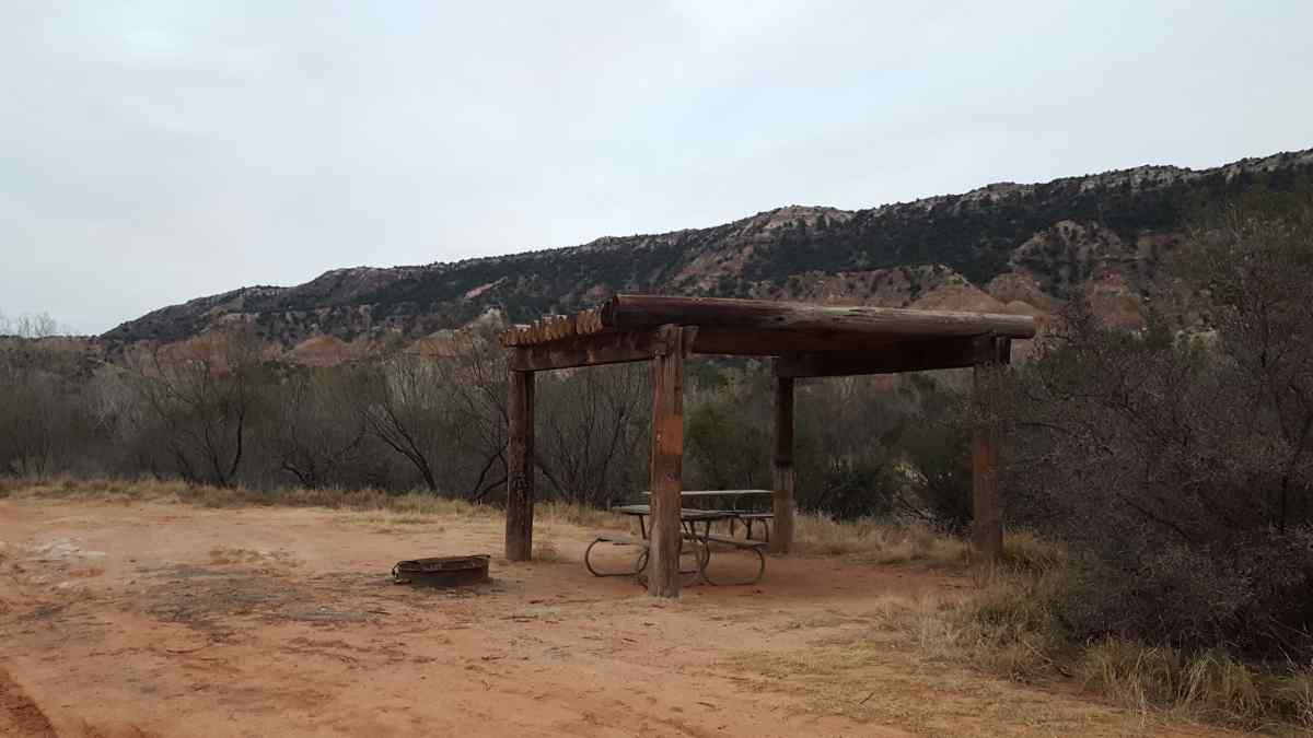 A campsite at the Equestrian Camp Area.