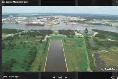 View from monument web cam before flooding