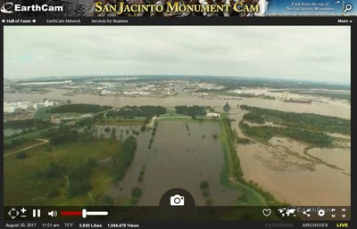 View from monument web cam showing flooding