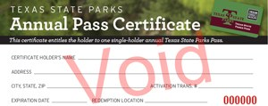 image of a Park Pass Certificate