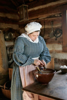 Woman working in kitchen at Barrington Farm