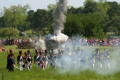 Reenactors at the Battle of San Jacinto