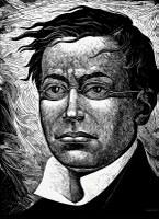 Woodcut image of Ignacio Zaragoza