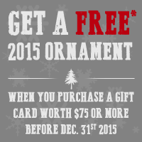 free ornament promotion
