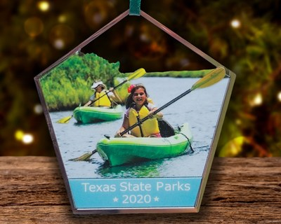 The 2019 Texas State Parks Ornament features Palo Duro Canyon