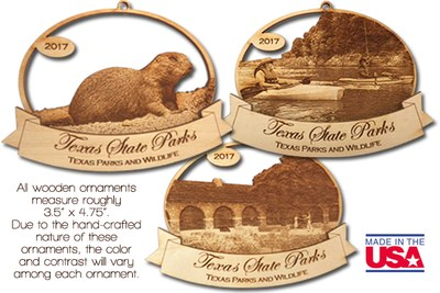 2017 Texas State Parks Ornament Collection (3 ornaments)