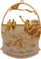 2015 Texas State Park Ornament Collection (kiting on the beach at Mustang Island).