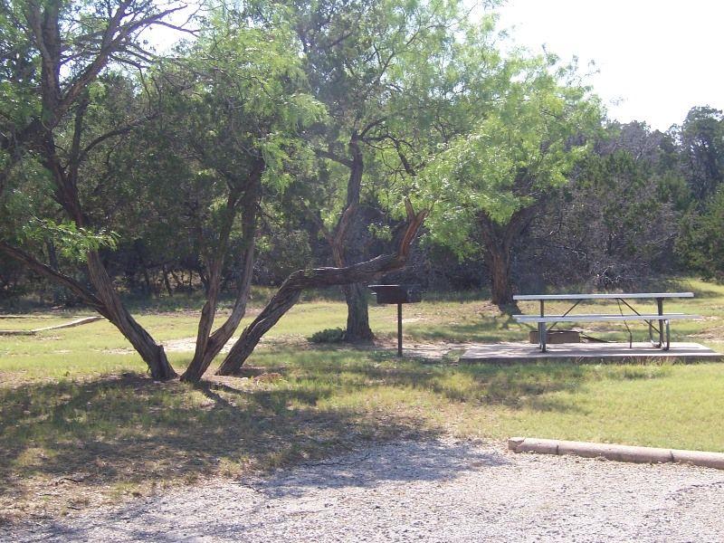 Campsite in Chaparral Trail area