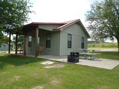 ADA-accessible Premium Cabin #5 at Possum Kingdom State Park