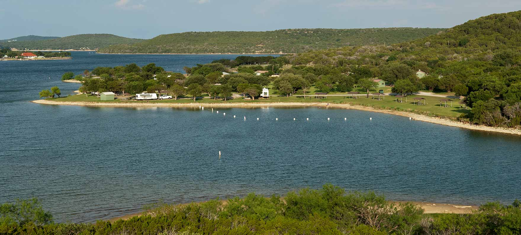 Located in the rugged canyon country of the Brazos River Valley, Lake Possum Kingdom offers some of the clearest, bluest water in the southwest.
