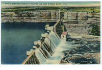Postcard showing Morris Shepard Dam