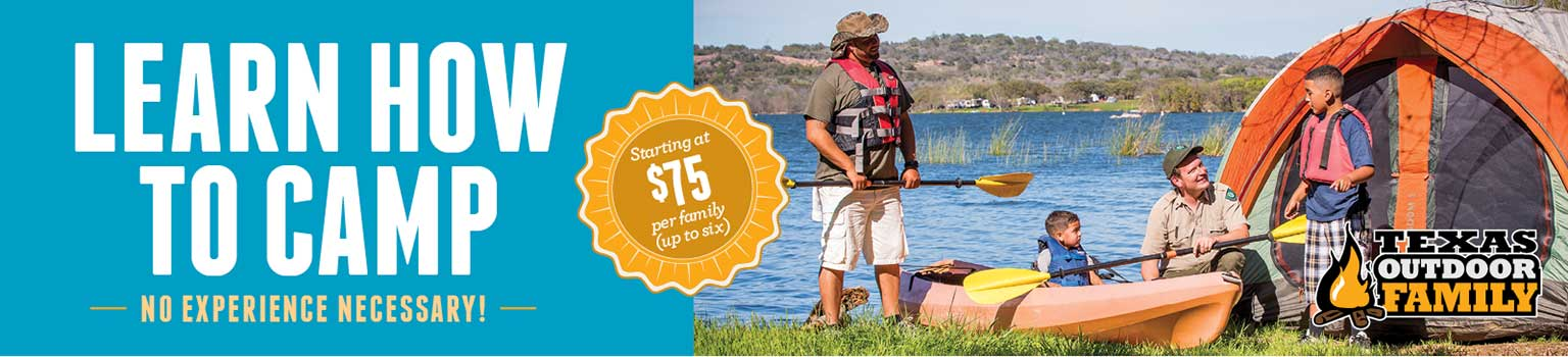 Learn how to camp. No experience neccessary. Starting at $75 per family (up to six people)