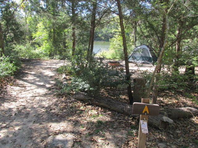 Purtis Creek State Park Primitive (Hike in 0.65 miles) Campsites