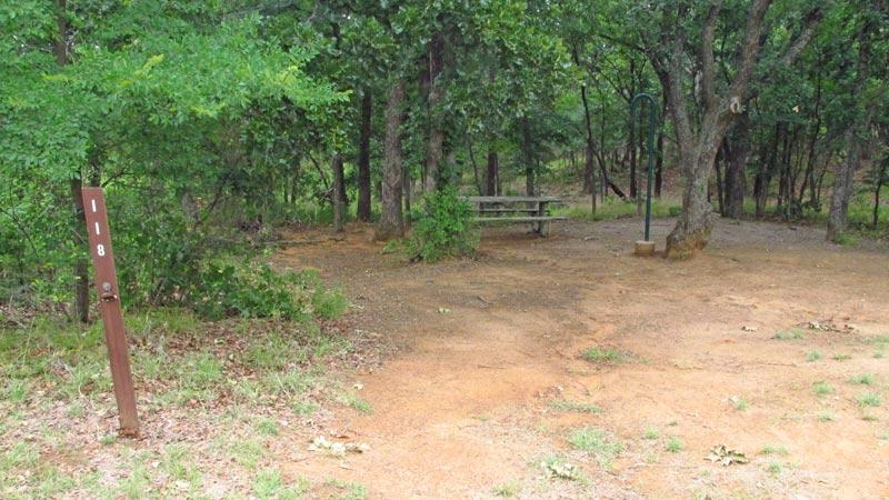 Site #118 in the Wild Plum area.