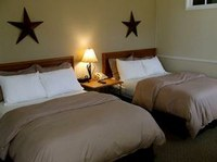 Room with double beds.