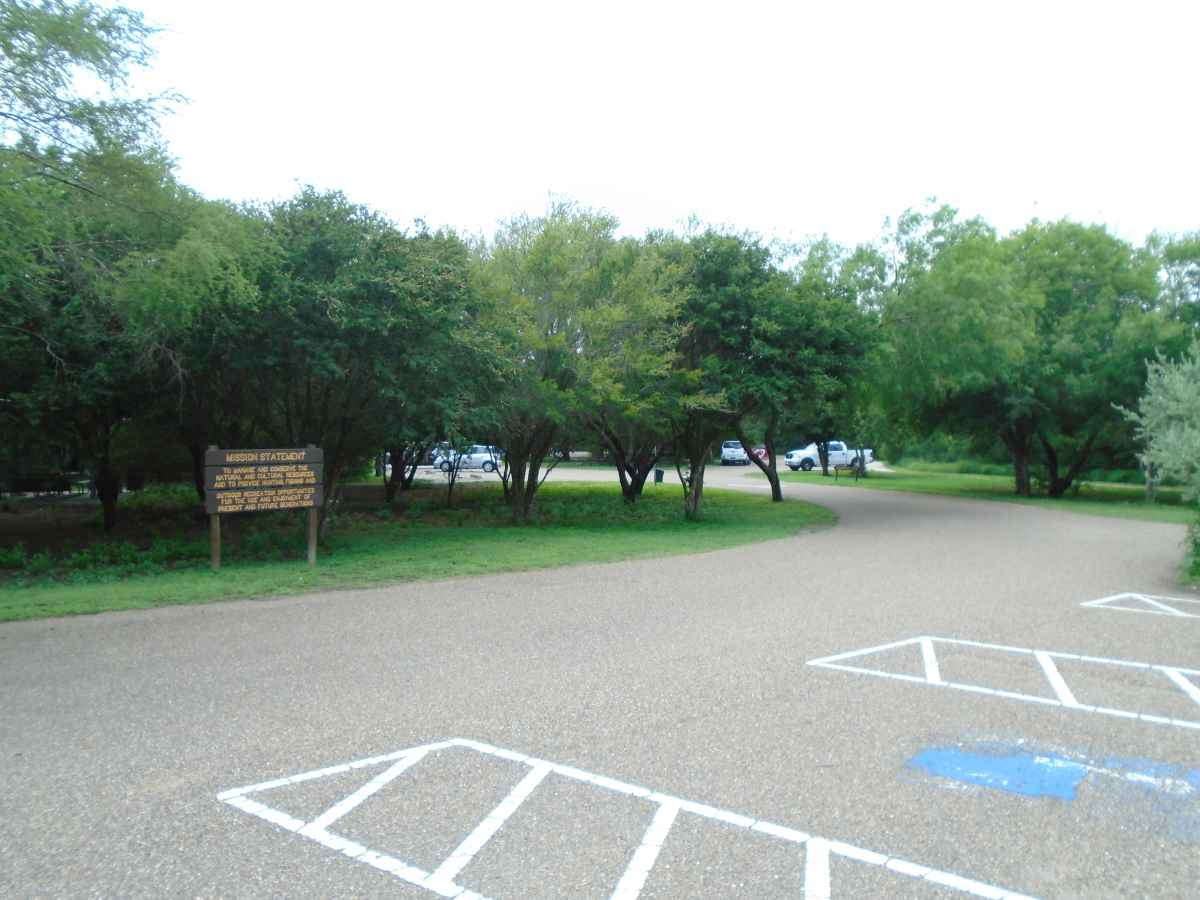 The parking area for the Visitor's Center and the Meeting Room.