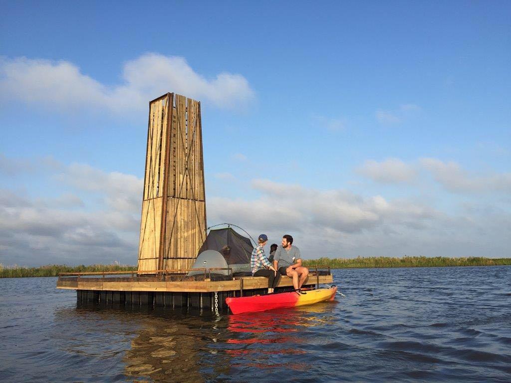 Sea Rim State Park Floating Primitive Campsite Boat Only