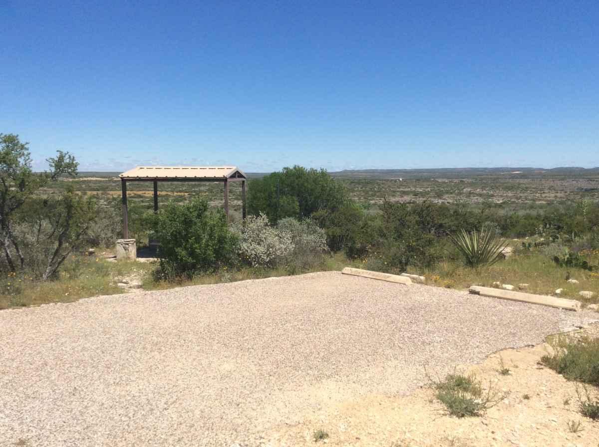 Campsite 10 in Desert Vista Camping Area.