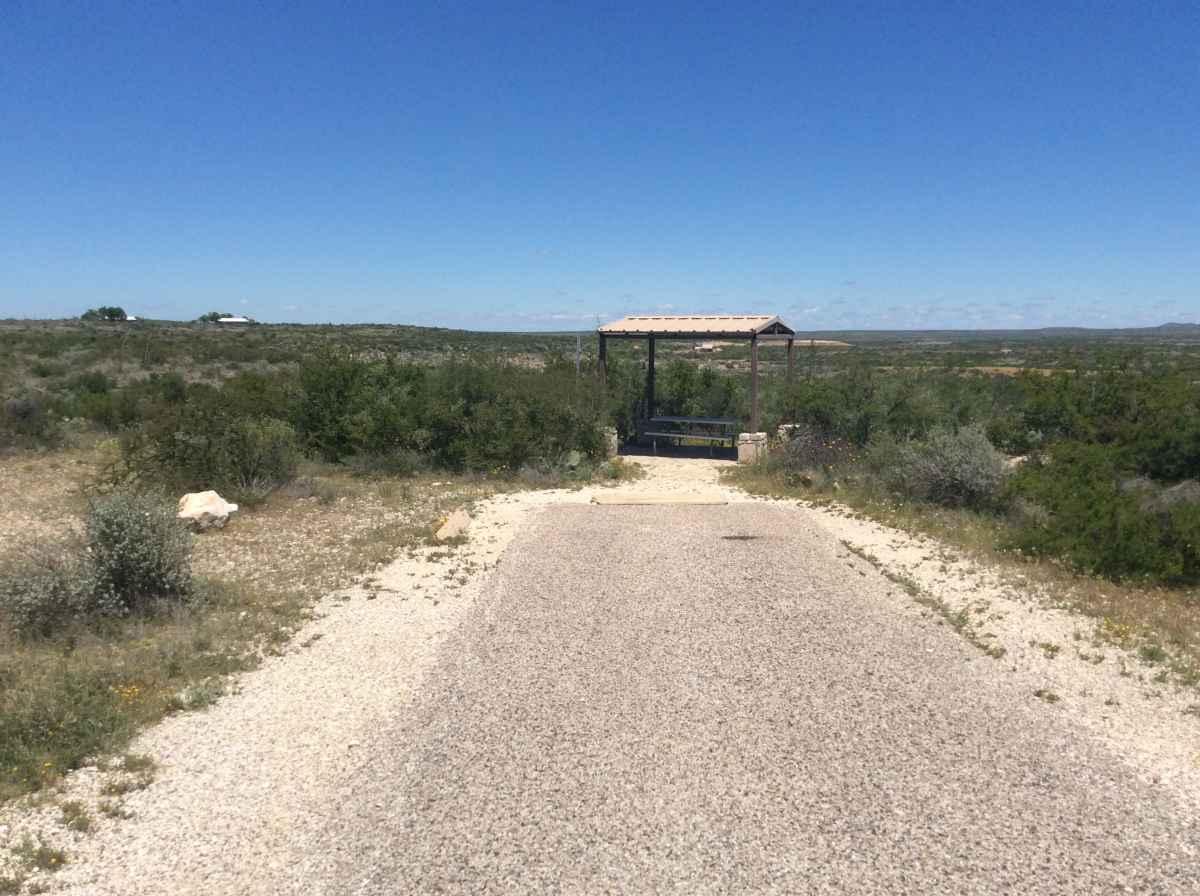 Campsite 15 in Desert Vista Camping Area.