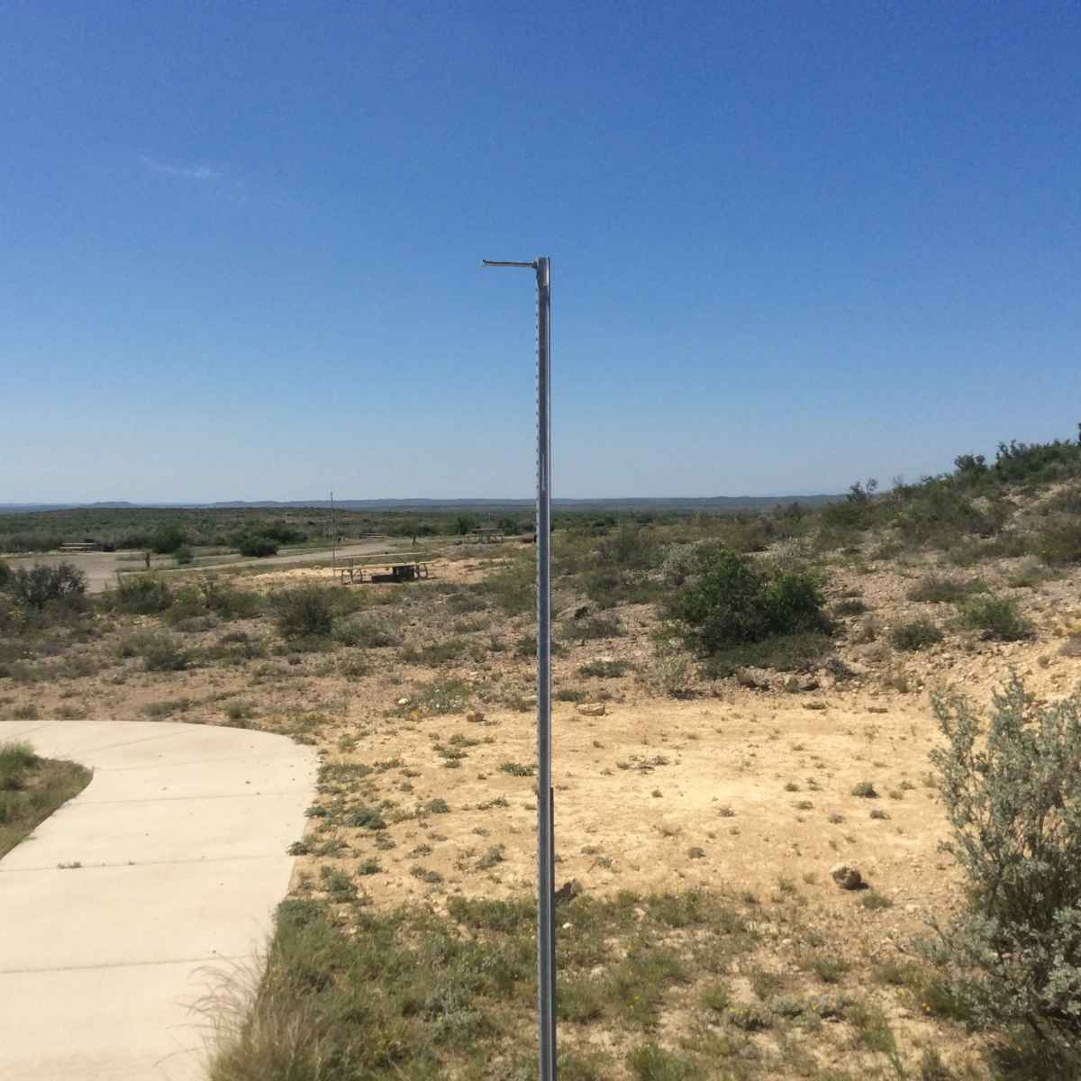 The lantern post at Campsite 35/