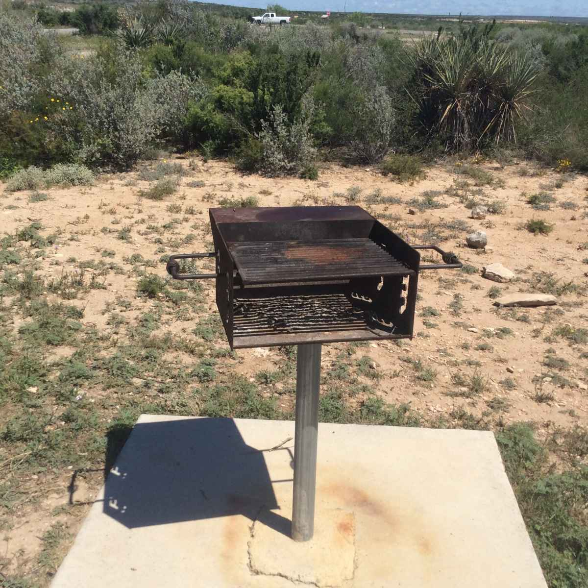 The upright grill at Campsite 44 is designed to be usable to people in wheelchairs.